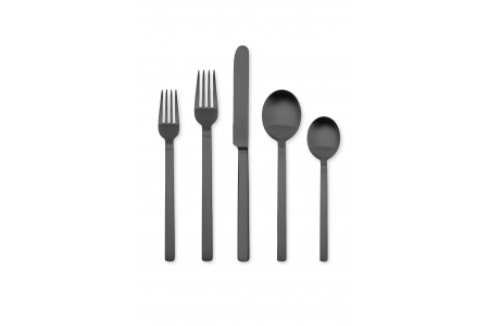 005 - Cutlery set 5pcs Stile Oro Nero Ice