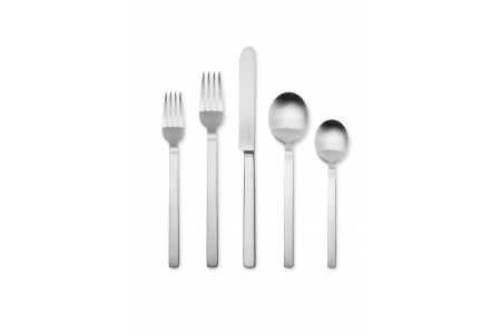 005 - Cutlery set 5pcs Stile Argentato Ice