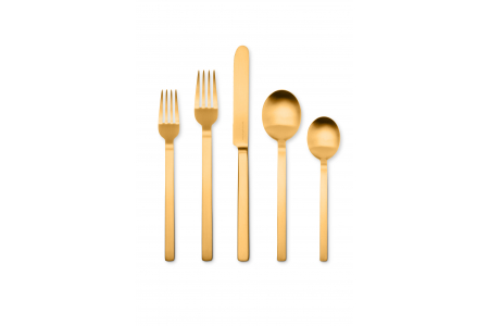 005 - Cutlery set 5pcs Stile Ice Oro