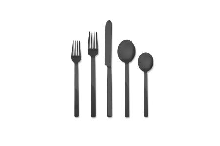 005 - Cutlery set 5pcs Stile Oro Nero